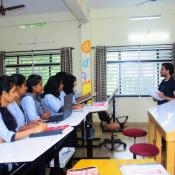 Mr. Harshal Mahajan, Mumbai, famous personality in the Fashion Design World conducted one week class for BFT students  on 20th March 2017